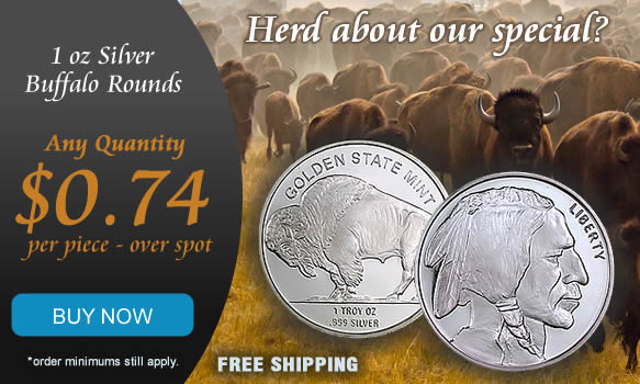 Silver Buffalo on sale only %image_alt%.74 over spot