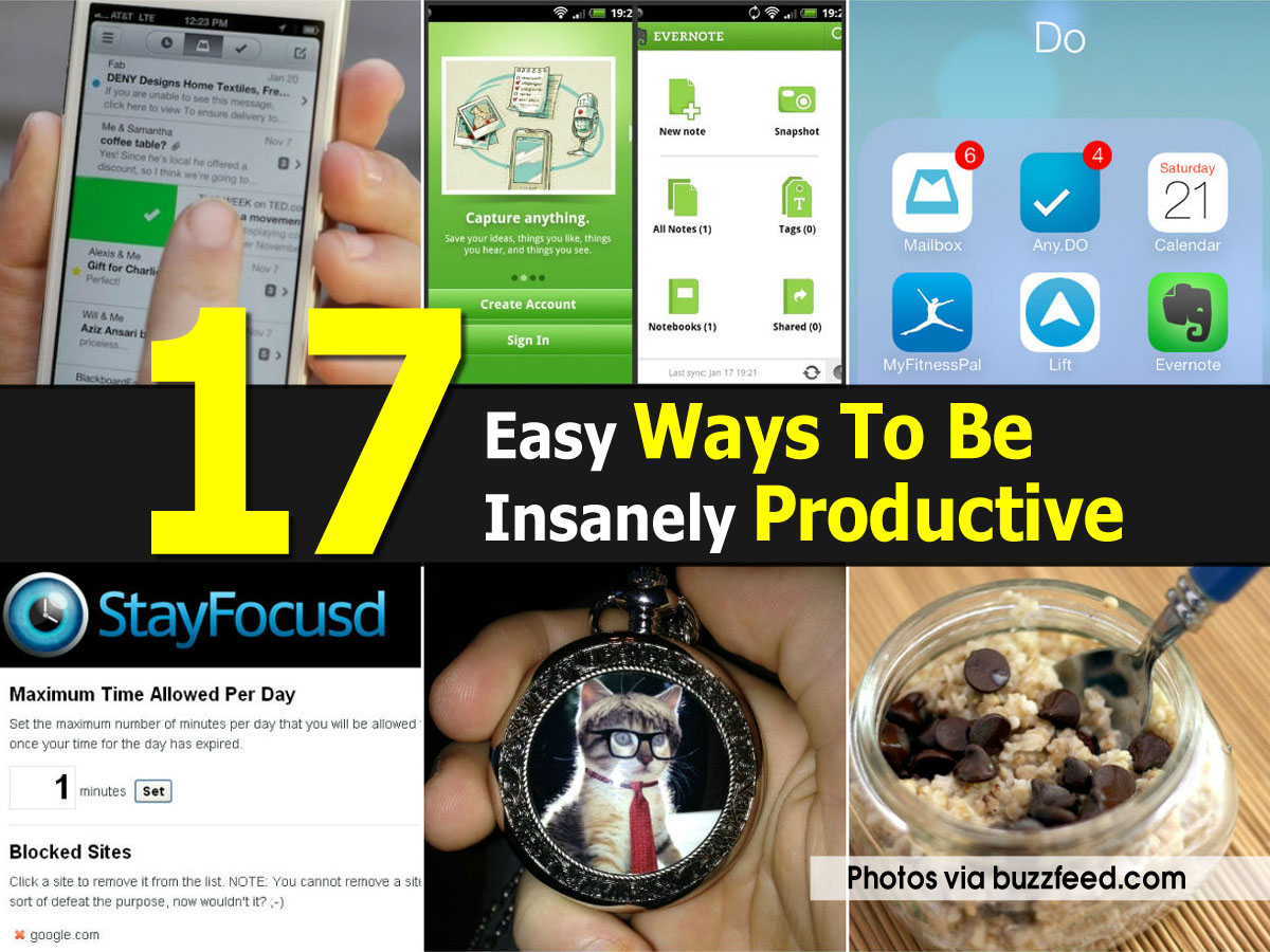 ways-to-be-productive
